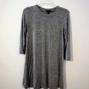 Light Grey Sweater Dress